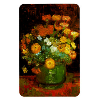 Vase with Zinnias Van Gogh Fine Art Magnet