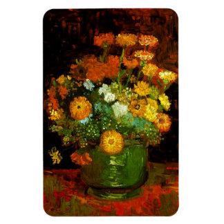 Vase with Zinnias Van Gogh Fine Art Rectangular Photo Magnet