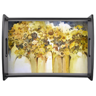Vases of Flowers Tray