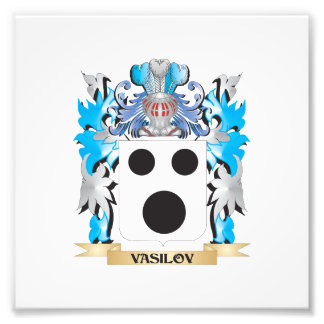 Vasilov Coat of Arms - Family Crest Photograph