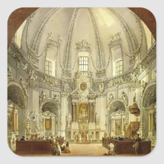 Vasily Sadovnikov: Interior of Trinitarian Church Square Sticker