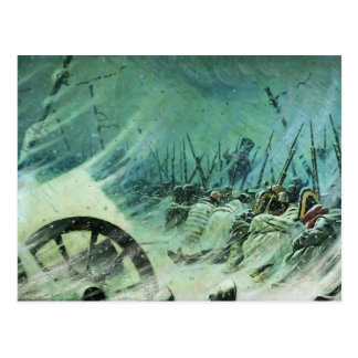 Vasily Vereshchagin- Night Bivouac of Great Army Postcard