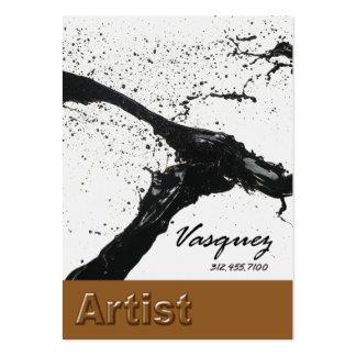 Vasquez - Bold Artist Painter Illustrator (mocha) Business Card Templates