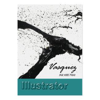 Vasquez - Bold Illustrator Artist Painter (teal) Business Card Templates