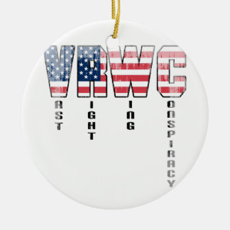 Vast Right Wing Conspiracy Faded.png Christmas Ornament