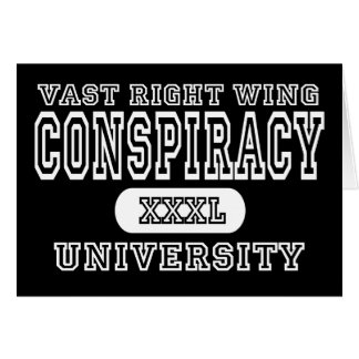 Vast Right Wing Conspiracy University Dark Greeting Card
