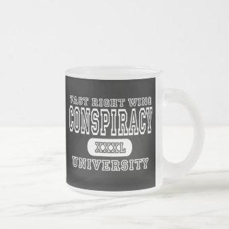 Vast Right Wing Conspiracy University Dark Frosted Glass Mug