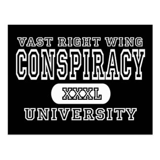 Vast Right Wing Conspiracy University Dark Postcard