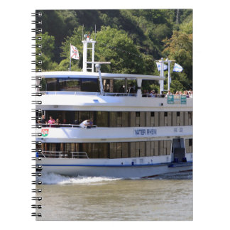 Vater Rhein tour boat, Germany Spiral Notebook
