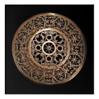 Vatican ancient metal bronze steampunk mysterious acrylic wall art