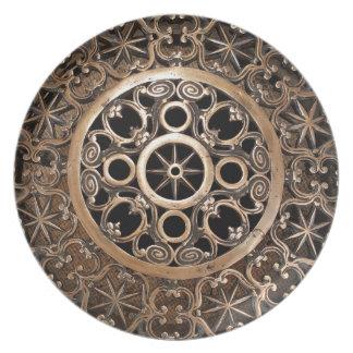 Vatican ancient metal bronze steampunk mysterious plate