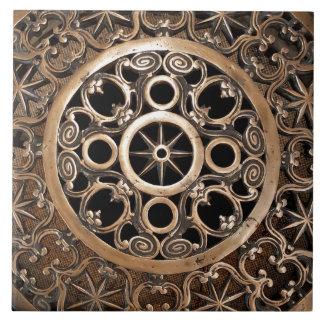 Vatican ancient metal bronze steampunk mysterious tile