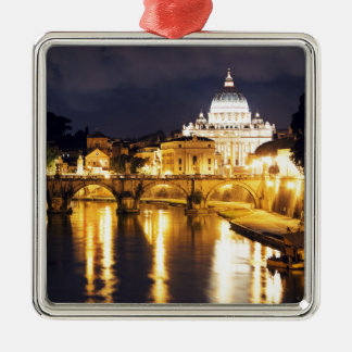 Vatican Bridge Of Angels Silver-Colored Square Decoration
