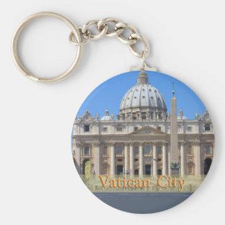 Vatican City Basic Round Button Key Ring