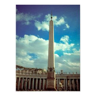 Vatican city column 17 cm x 22 cm invitation card