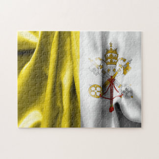 Vatican City Flag 11x14 Photo Puzzle with Gift Box