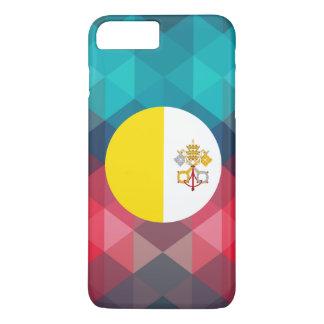 Vatican City flag circle on modern bokeh iPhone 7 Plus Case