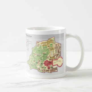 Vatican City Layout Diagram Map Coffee Mug
