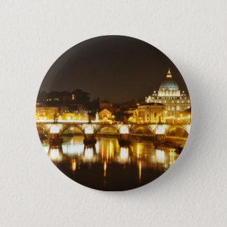 Vatican city, Rome, Italy at night 6 Cm Round Badge