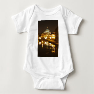 Vatican city, Rome, Italy at night Baby Bodysuit