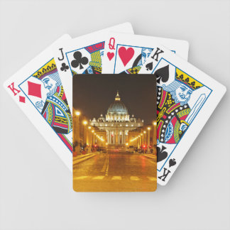 Vatican city, Rome, Italy at night Bicycle Playing Cards