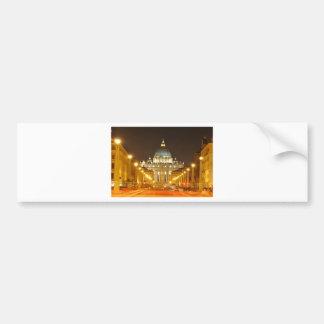 Vatican city, Rome, Italy at night Bumper Sticker
