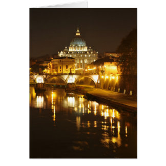 Vatican city, Rome, Italy at night Card