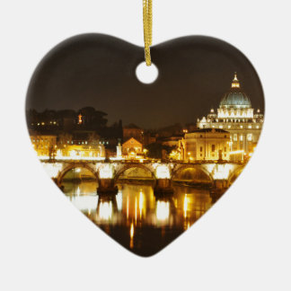 Vatican city, Rome, Italy at night Ceramic Ornament