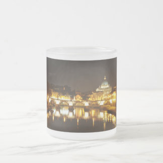 Vatican city, Rome, Italy at night Frosted Glass Coffee Mug