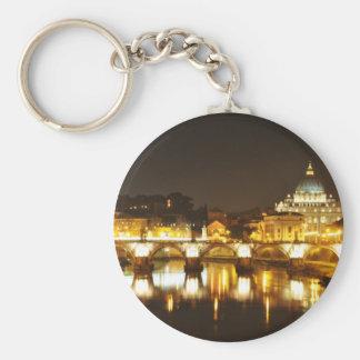 Vatican city, Rome, Italy at night Key Ring