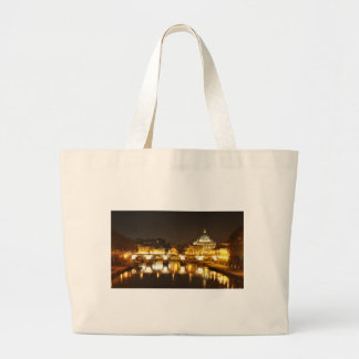Vatican city, Rome, Italy at night Large Tote Bag