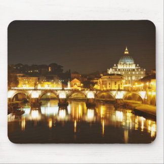 Vatican city, Rome, Italy at night Mouse Pad