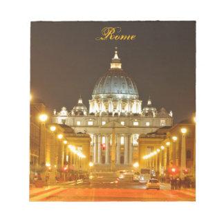 Vatican city, Rome, Italy at night Notepad