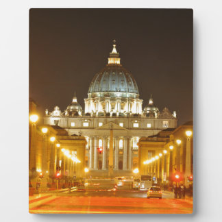Vatican city, Rome, Italy at night Plaque