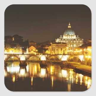 Vatican city, Rome, Italy at night Square Sticker