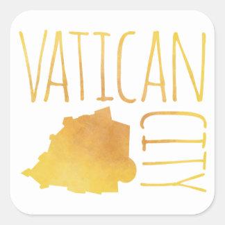 Vatican City Square Sticker