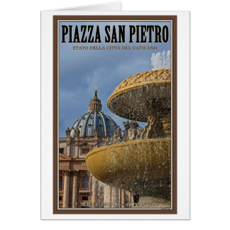 Vatican City - St Peters Square Fountain Card