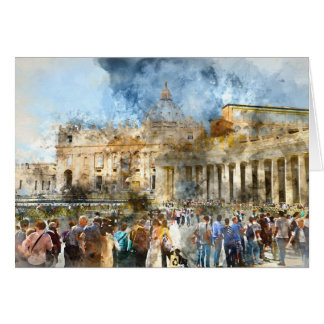 Vatican in  Rome Italy Card