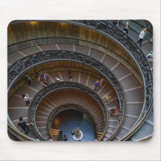 Vatican Museum Spiral Staircase Mouse Pad
