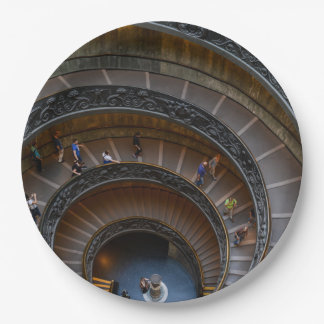 Vatican Museum Spiral Staircase near Rome Italy Paper Plate