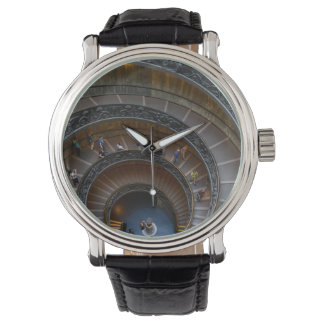 Vatican Museum Spiral Staircase near Rome Italy Wrist Watch