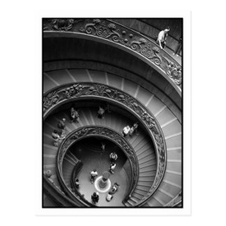 Vatican Museum Spiral Staircase Postcard