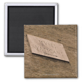 Vatican Museums sign, Rome, Italy Magnet