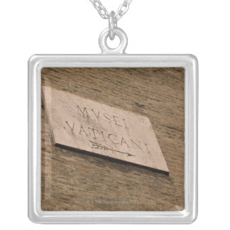 Vatican Museums sign, Rome, Italy Pendant
