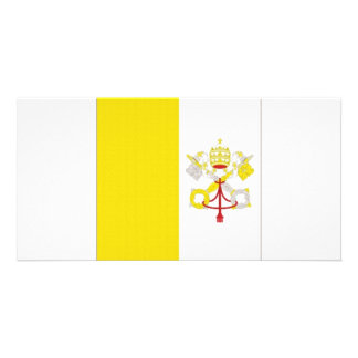 Vatican State Flag Customized Photo Card