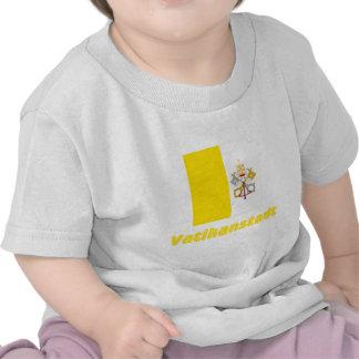 Vatikanstadt Flagge mit Namen Tee Shirt