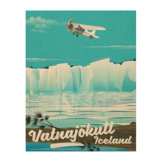 Vatnajökull iceland travel poster