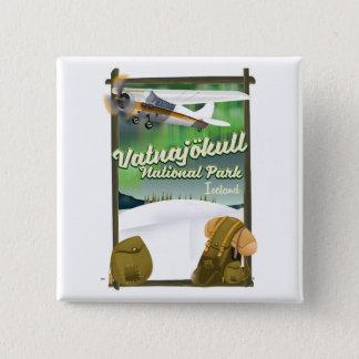 Vatnajökull National Park Iceland 15 Cm Square Badge