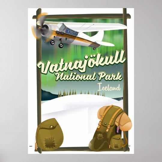 Vatnajökull National Park Iceland Poster