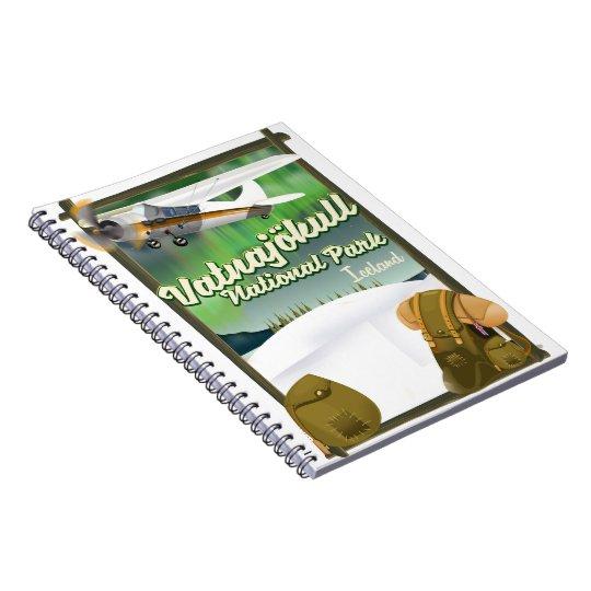 Vatnajökull National Park Iceland Spiral Notebook